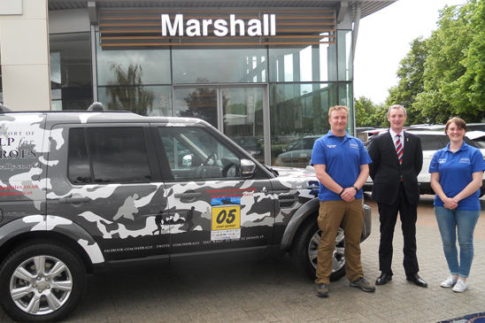 Help the Heroes Rally Marshall Land Rover